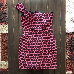 French Connection Polka Dot Shoulder Dress